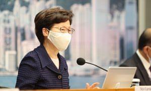 Chief Executive of the Hong Kong Special Administrative Region (HKSAR) Carrie Lam announces the postponement of the 2020 Legislative Council (LegCo) General Election of the HKSAR due to the current COVID-19 outbreak, July 31, 2020.