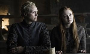 Brienne of Tarth with Sansa Stark.