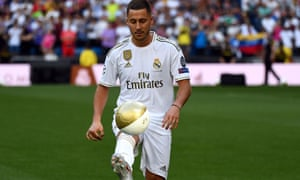 Eden Hazard showed off his skills to the fans at the Bernabeu, with his move to Real Madrid now signed and sealed.