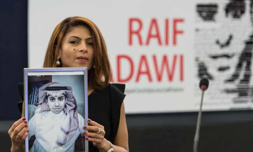 Ensaf Haidar, wife of jailed Saudi blogger Raif Badawi, will collect the freedom of speech award on his behalf.