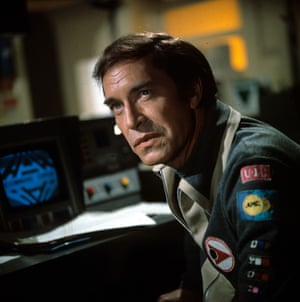 As Commander John Koenig in the Gerry and Sylvia Anderson-created Space: 1999.