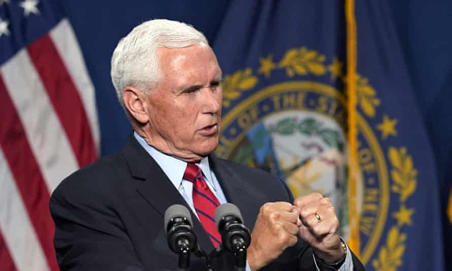Pence contradicted 'those in our party' who believe 'any one person' could select the president.