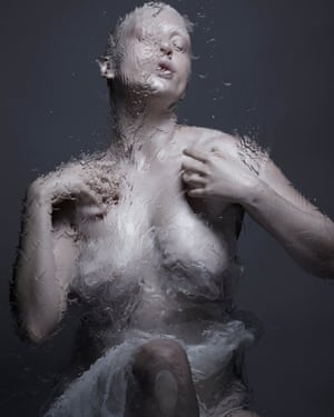 From the WatersI shot this image whilst I was heavily pregnant as the final shot. Gina was standing behind glass with water dripping down over it. I chose to have a home waterbirth and can still vividly remember being in the water with him after he was born, this little beautiful creature laid across my chest, still connected by the umbilical cord as we waited for the placenta to be born.The weeks after the birth are quite a blur, it was blissful, exhausting, emotional and physically demanding but also so special. I feel a sense of calm and contentment and renewed purpose in life.