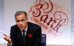 Governor of the Bank of England Mark Carney during his quarterly Inflation Report press conference.