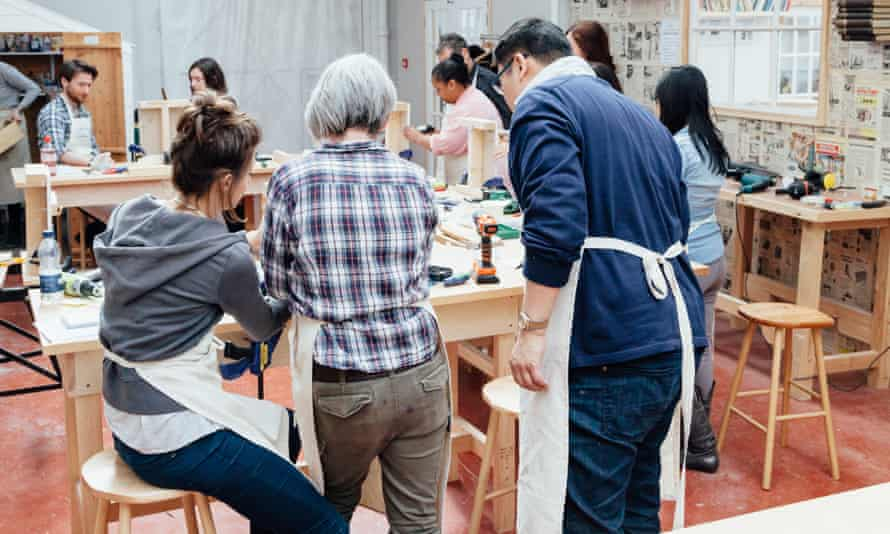 Safety in numbers: repair workshops are social gatherings and aim to give you the confidence to tackle basic jobs yourself.