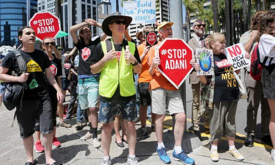 Anti-Adani protesters in Brisbane, 17 October 2019