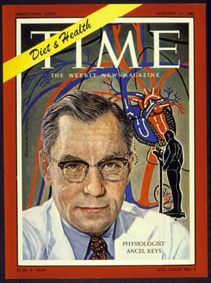 The 1961 cover of Time magazine with Ancel Keys in a white coat and glasses