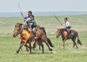 """<strong>Mongolian boy jockeys</strong><br>Boys aged 6 - 16 are the jockeys in Mongolia, competing for big money prizes and prestige for their families. The do not always have a saddle or, even more rarely, a helmet. An 8 year old won this race of 8km<br>Photograph: <a href=""""https://witness.theguardian.com/assignment/55b0f634e4b02ab2dca28ece/1640920"""">HilaryRhodes/GuardianWitness</a>"""