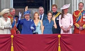 Prince Andrew on the royal balcony with Kylie, Meghan Markle and other real royalty