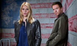 Claire Danes as Carrie and Damian Lewis as Brody