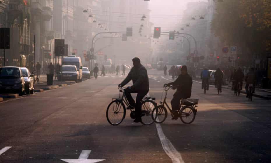 Pollution in Milan.