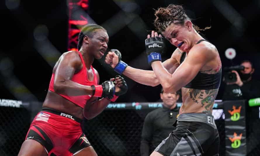 Claressa Shields, faces off against Brittney Elkin