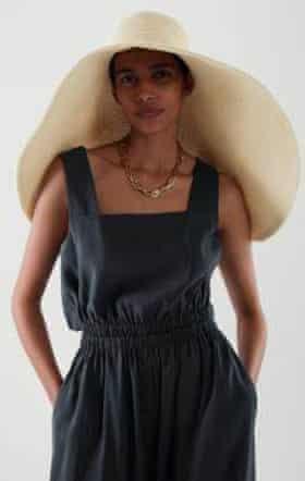 Oversized straw hat