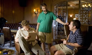 Judd Apatow directing Seth Rogen and Adam Sandler in Funny People