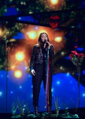Italy's Francesca Michielin rehearses the song 'No Degree Of Separation'