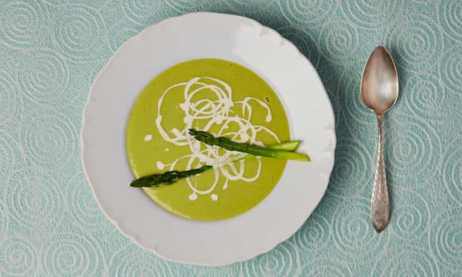 Simon Hopkinson's asparagus soup.