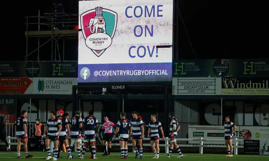 Coventry take on Ealing Trailfinders in the Championship last month