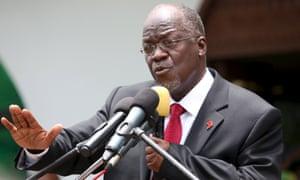 The president of Tanzania, John Magufuli