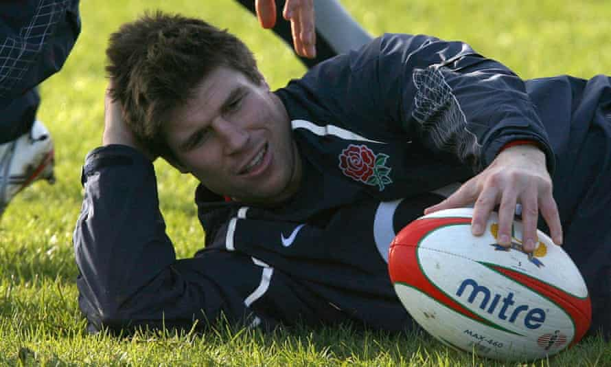 Michael Lipman, pictured at England training in 2008, is one of a number of former rugby union players taking legal action.
