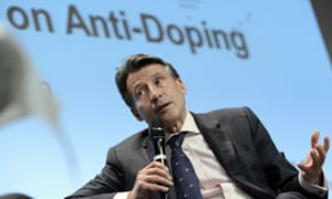 Lord Coe, president of the IAAF, speaks during the Wada Symposium for Anti-Doping Organisations in 2016.