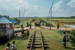The Rohingya Dar Paing village station, on the Sittwe-Zaw Pu Gyar line