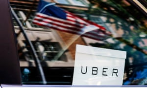 An Uber sign