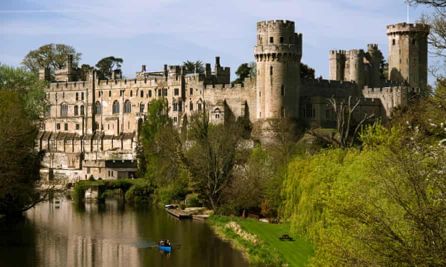 Warwick Castle, on the banks of the river Avon