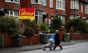 A Vote Labour poster in the recent Oldham byelection.