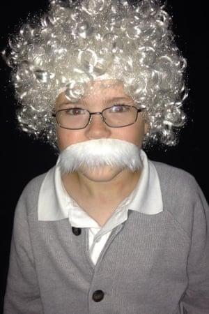 Child in Einstein Halloween Costume