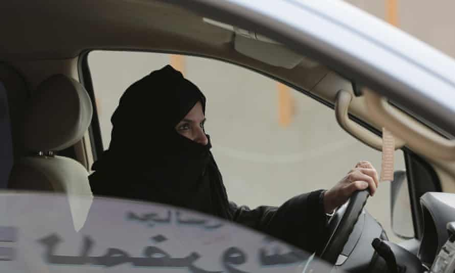 Saudi activist Aziza al-Yousef drives a car on a highway in Riyadh. She is among those who were detained.