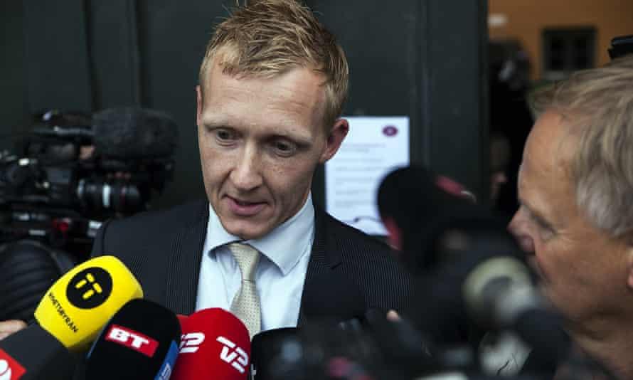 Prosecutor Jakob Buch-Jepsen speaks to reporters outside the court