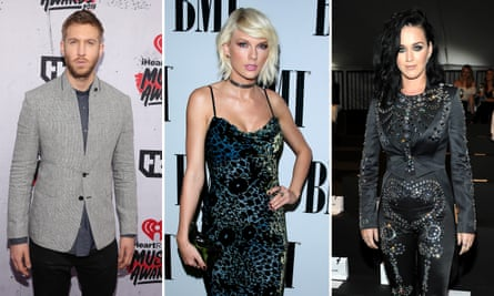 Calvin Harris, Taylor Swift and Katy Perry