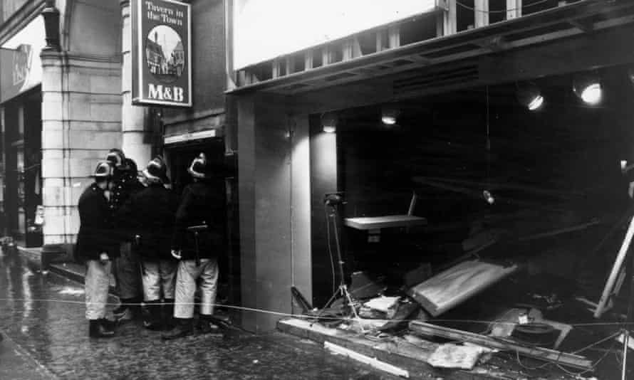 The Tavern in the Town pub in Birmingham after the IRA blast.