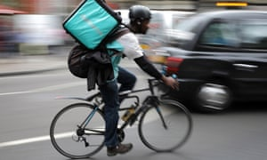A Deliveroo worker