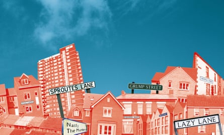 Montage of images of houses and street signs