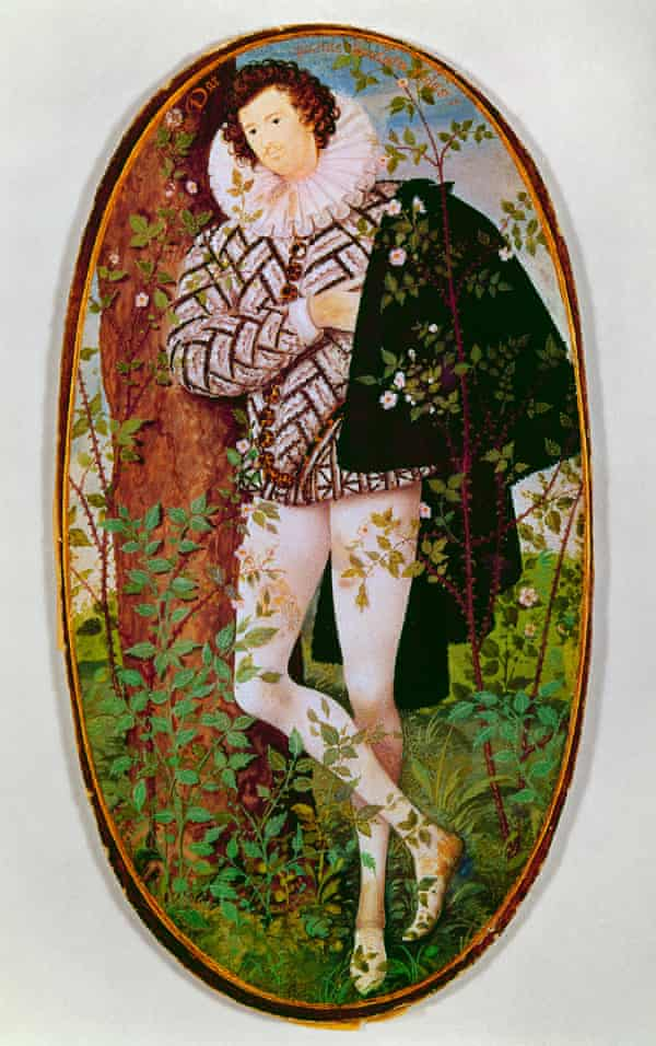 Forever young … an unidentified young man, by Hilliard, c.1600.