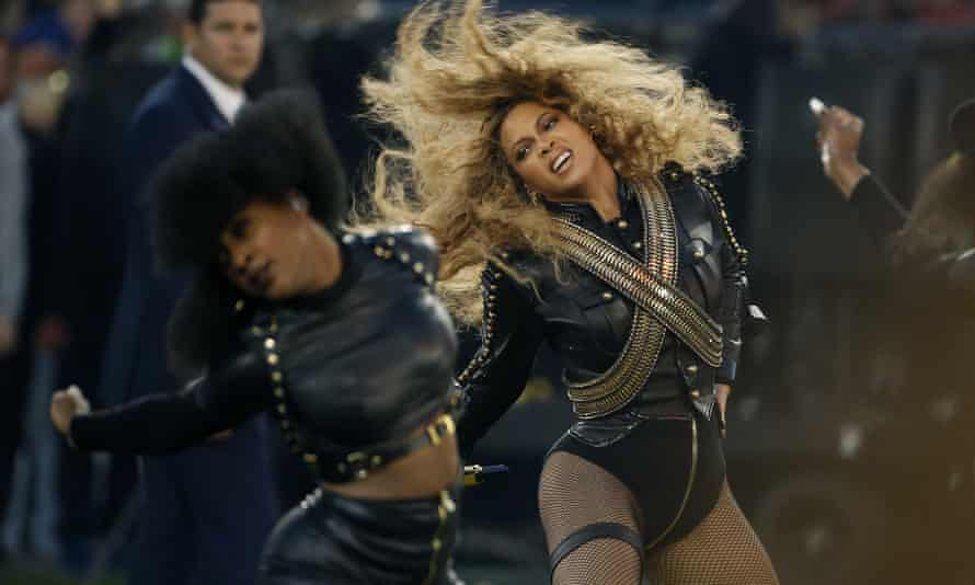 Beyonce at the NFL Super Bowl 50