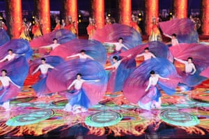An evening gala is staged for the opening ceremony of the International Horticultural Exhibition