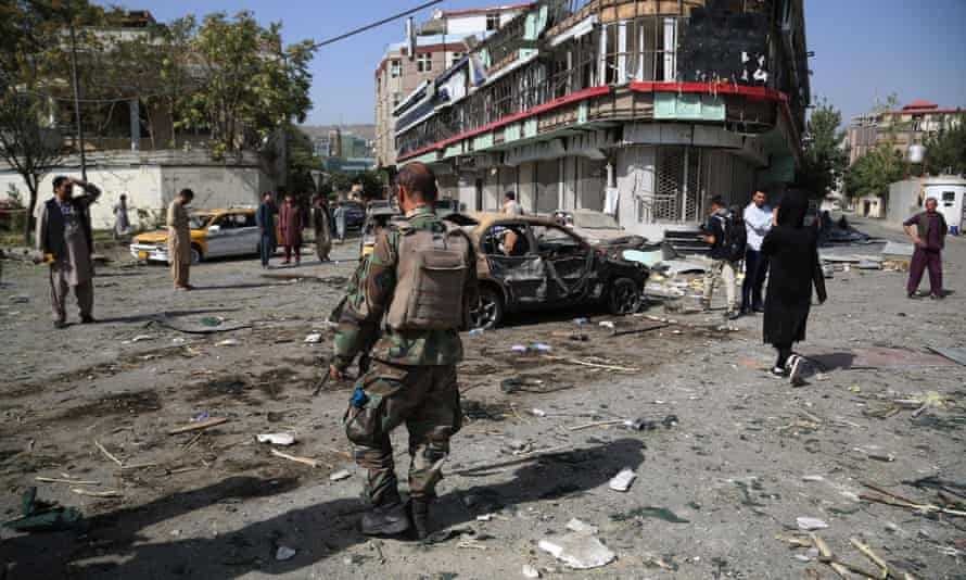 Taliban suicide-bomb attack targets defence minister's Kabul home |  Afghanistan | The Guardian