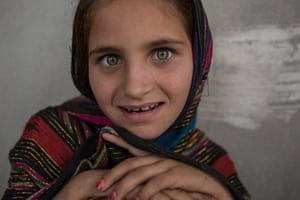 """Mariam, eight years old, is from Khost province. """"The soldiers came early in the morning. They broke into our house and climbed on the roof. They yelled at us, telling us to go outside. I held my grandfather's hand. We walked far away from the house and the soldiers followed us with their guns, then told us to sit down and watch. I watched when they blew up the house. It was loud and I cried. My family now lives in a rented house. I miss our village, but I don't think we will go back soon. We have no place to go anymore."""""""