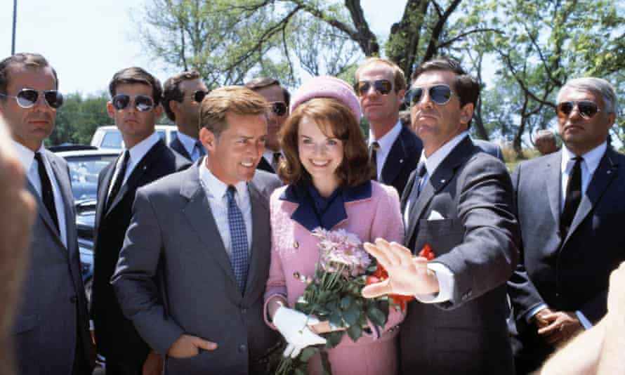 Martin Sheen as John F Kennedy and Blair Brown as Jacqueline Kennedy in TV miniseries Kennedy