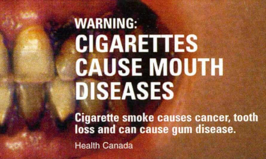 A Canadian anti-smoking warning