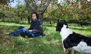 Gabriel David, apple grower and founder of Luscombe Drinks, photographed in his Devon orchard.