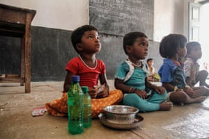 Children at a child development centre in India, set up by the government in an effort to tackle malnutrition.