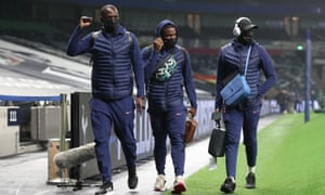 Moussa Sissoko, Serge Aurier and Tanguy Ndombele