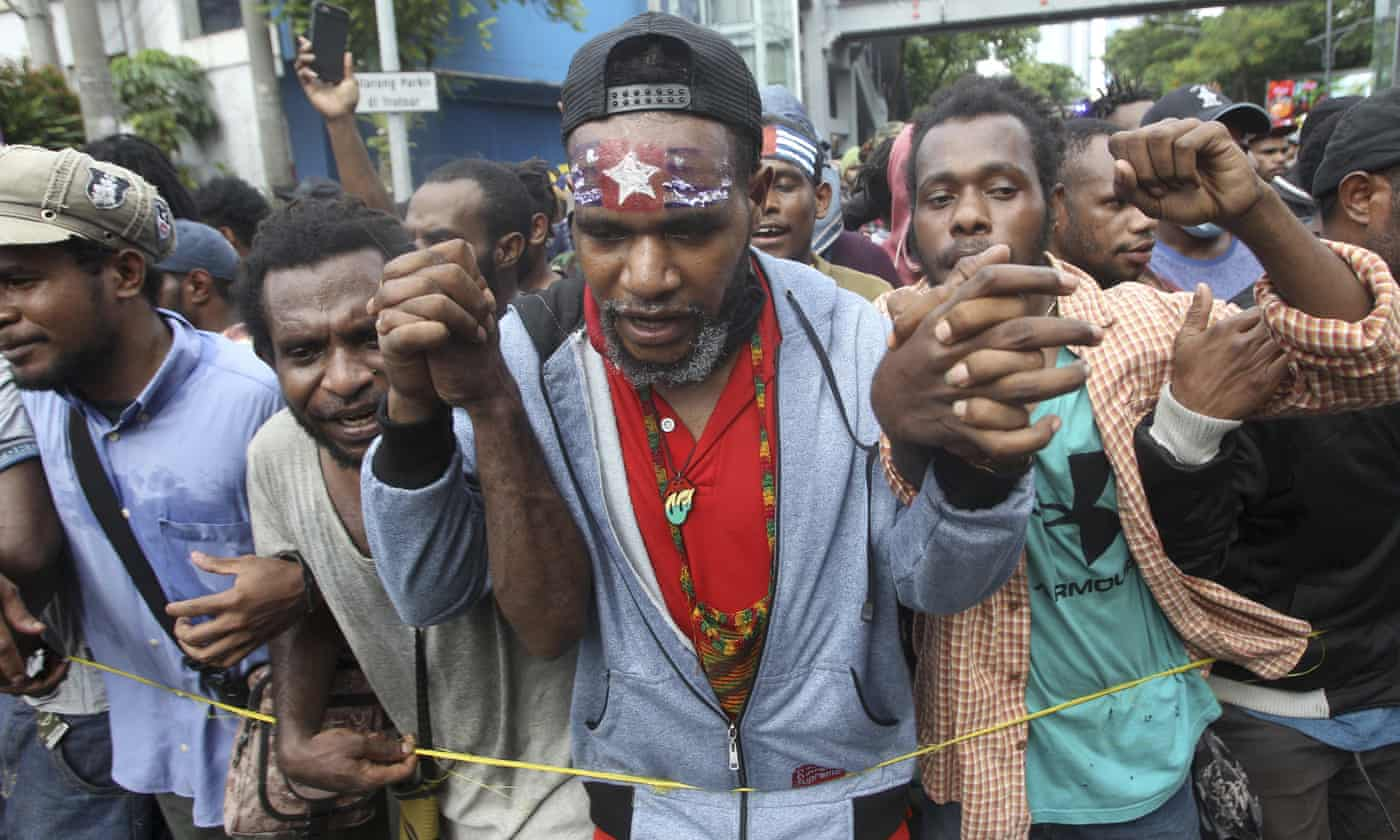 Indonesia arrests dozens of West Papuans over claim flag was thrown in sewer