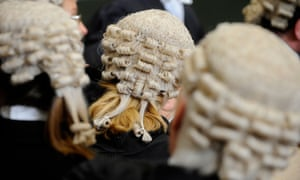 Members of the bar wearing barristers wigs
