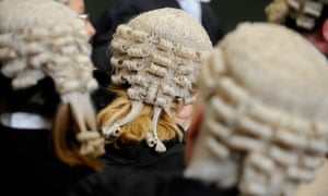 Barristers in a court