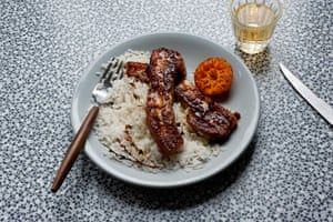 The winning recipe: MizPepperpot's pork belly in spiced clementine sauce.