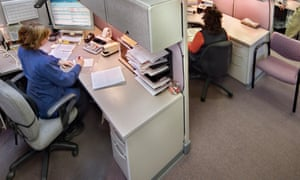 Personal space … open-plan offices may become a thing of the past.